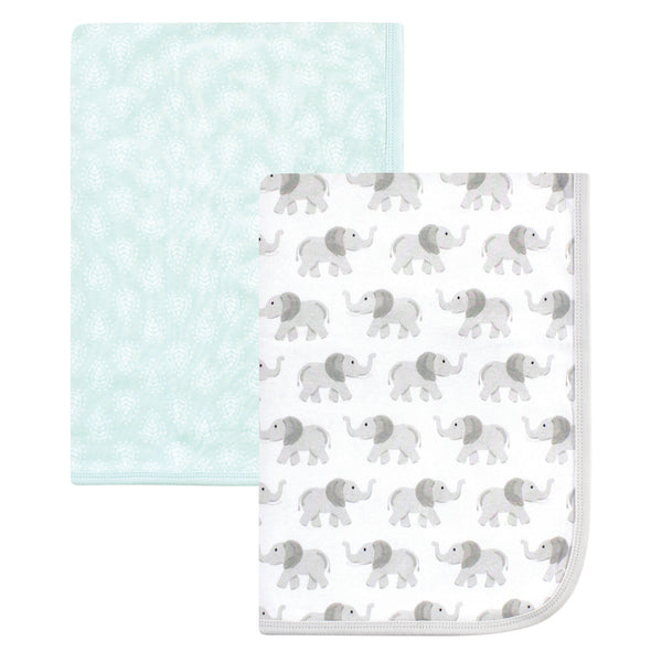 Hudson Baby Cotton Swaddle Blankets, Gray Elephant
