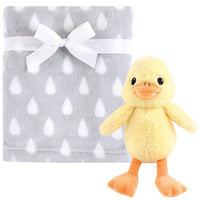 Hudson Baby Plush Blanket with Toy, Yellow Duck