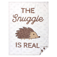 Hudson Baby Plush Mink Blanket, Hedgehog