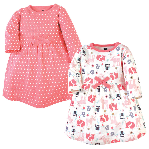 Hudson Baby Cotton Dresses, Forest
