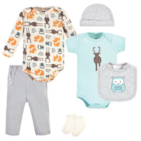 Hudson Baby Cotton Layette Set, Moose