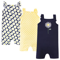 Hudson Baby Cotton Rompers, Daisy