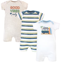 Hudson Baby Cotton Rompers, Gone Surfing