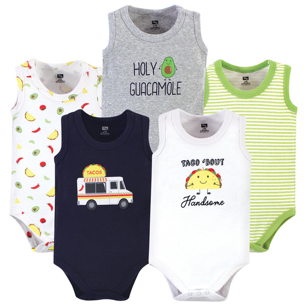 Hudson Baby Cotton Sleeveless Bodysuits, Taco Truck