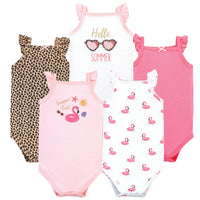 Hudson Baby Cotton Sleeveless Bodysuits, Summer Fun