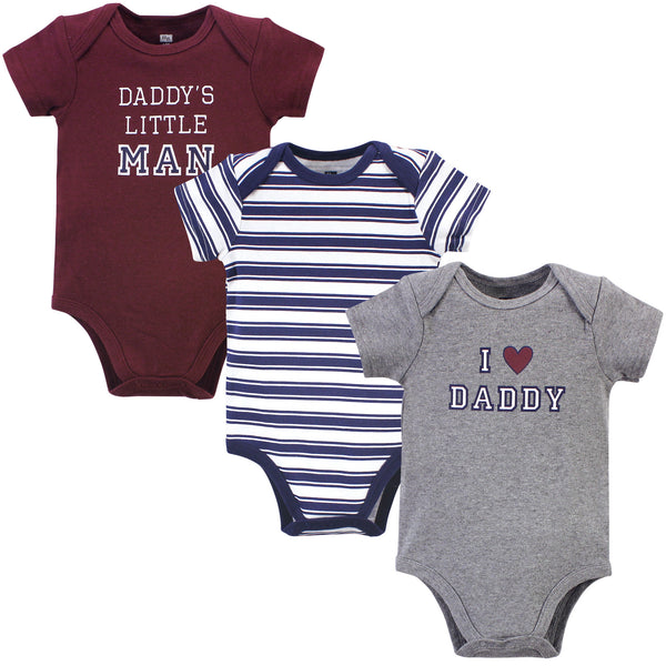 Hudson Baby Cotton Bodysuits, Boy Daddy