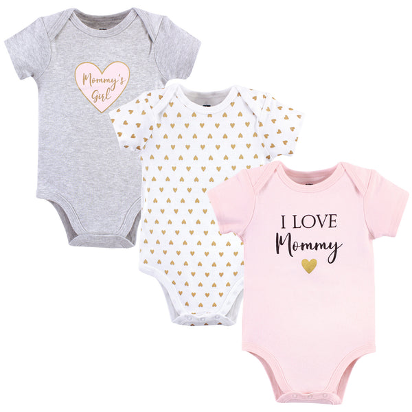 Hudson Baby Cotton Bodysuits, Girl Mommy