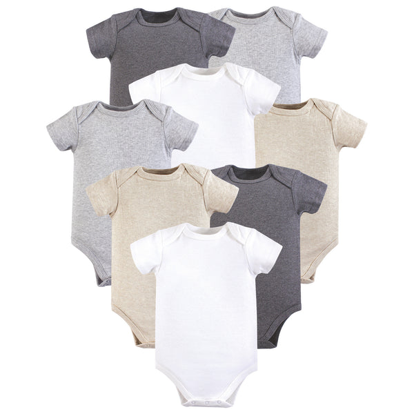 Hudson Baby Cotton Bodysuits, Heather Gray