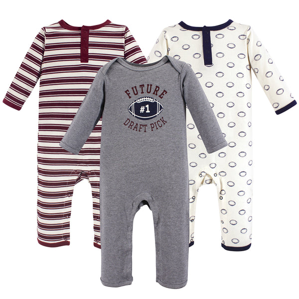 Hudson Baby Cotton Coveralls, Football