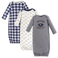 Hudson Baby Cotton Gowns, Football