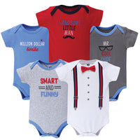 Hudson Baby Cotton Bodysuits, Mr Cool Dude