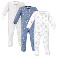 Hudson Baby Cotton Sleep and Play, Cloud Mobile Blue