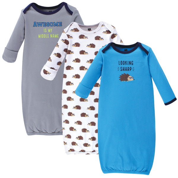 Hudson Baby Cotton Gowns, Hedgehog