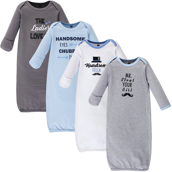 Hudson Baby Cotton Gowns, Handsome Fella