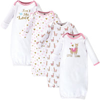 Hudson Baby Cotton Gowns, Little Llama
