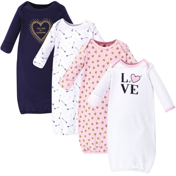 Hudson Baby Cotton Gowns, Love