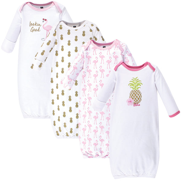 Hudson Baby Cotton Gowns, Pineapple