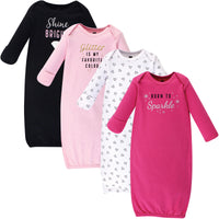 Hudson Baby Cotton Gowns, Sparkle