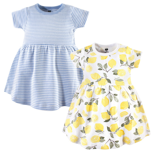 Hudson Baby Cotton Dresses, Lemons