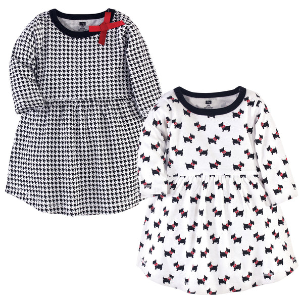 Hudson Baby Cotton Dresses, Scottie Dog