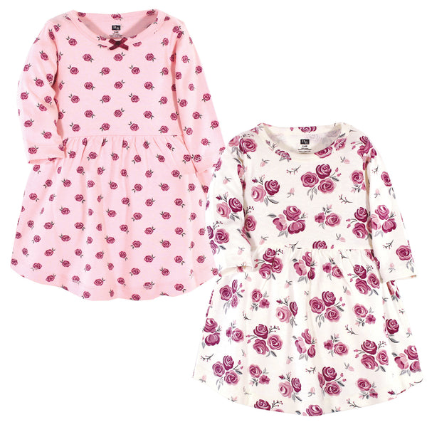 Hudson Baby Cotton Dresses, Rose