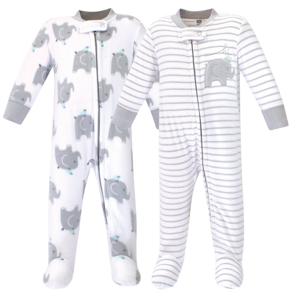 Hudson Baby Fleece Sleep and Play, Elephants