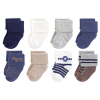 Hudson Baby Cotton Rich Newborn and Terry Socks, Bear