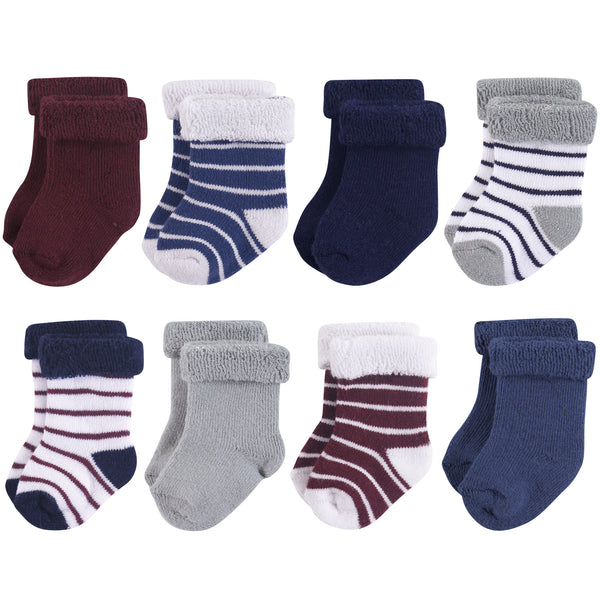 爱游戏下注|爱游戏棋牌|爱游戏app下载 Baby Cotton Rich Newborn and Terry Socks, Stripe Boy