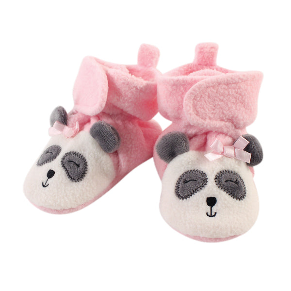 Hudson Baby Cozy Fleece Booties, Girl Panda