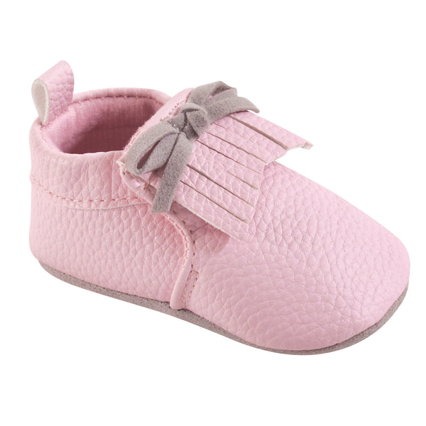 Hudson Baby Moccasin Shoes, Light Pink Moccasin