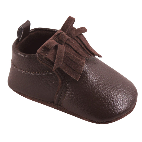 Hudson Baby Moccasin Shoes, Brown Moccasin