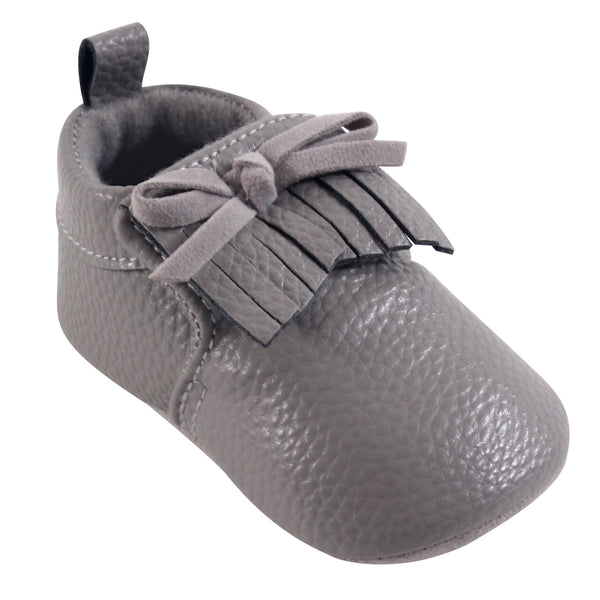 Hudson Baby Moccasin Shoes, Gray Moccasin