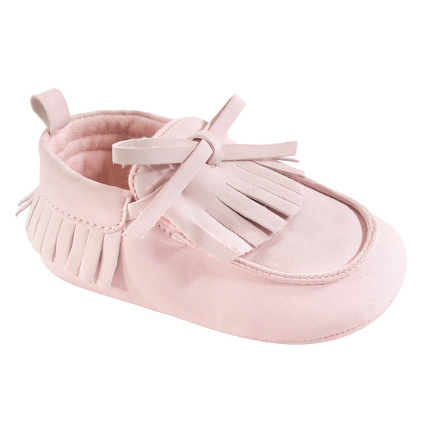 Hudson Baby Moccasin Shoes, Light Pink