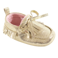 Hudson Baby Moccasin Shoes, Gold