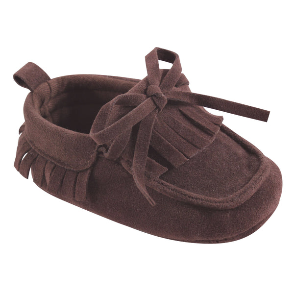 Hudson Baby Moccasin Shoes, Brown