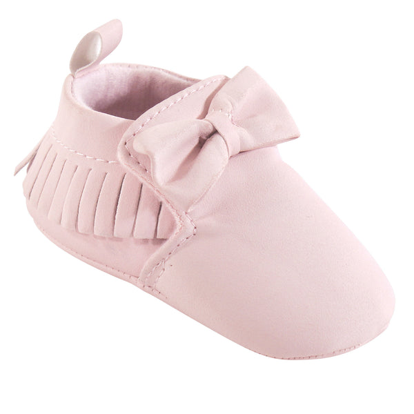 Hudson Baby Moccasin Shoes, Soft Pink