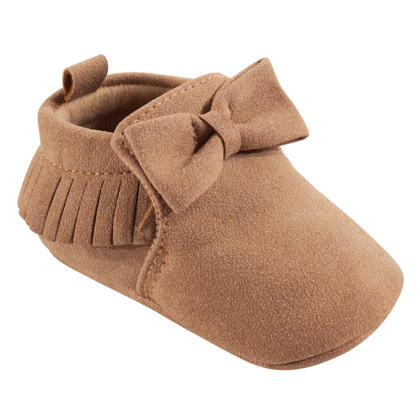 Hudson Baby Moccasin Shoes, Tan