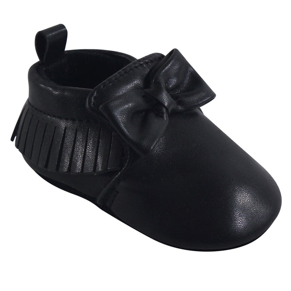 Hudson Baby Moccasin Shoes, Black