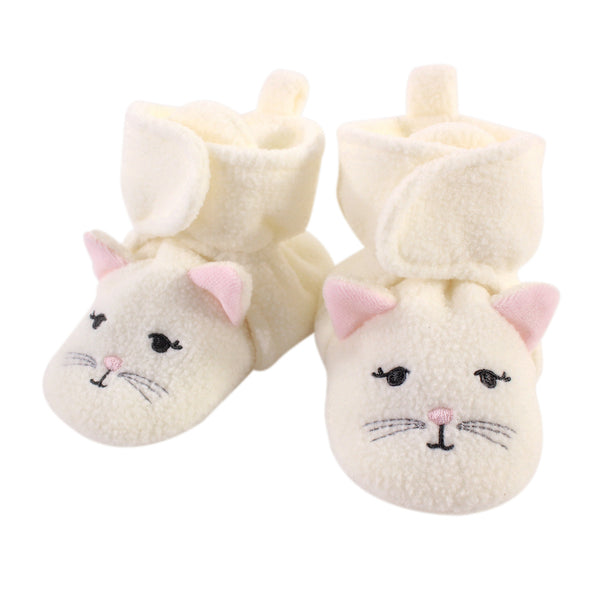 Hudson Baby Cozy Fleece Booties, Kitty