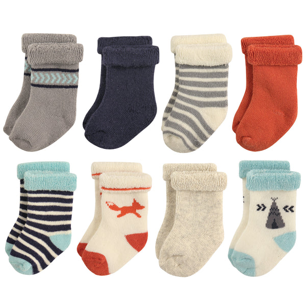 爱游戏下注|爱游戏棋牌|爱游戏app下载 Baby Cotton Rich Newborn and Terry Socks, Boy Fox