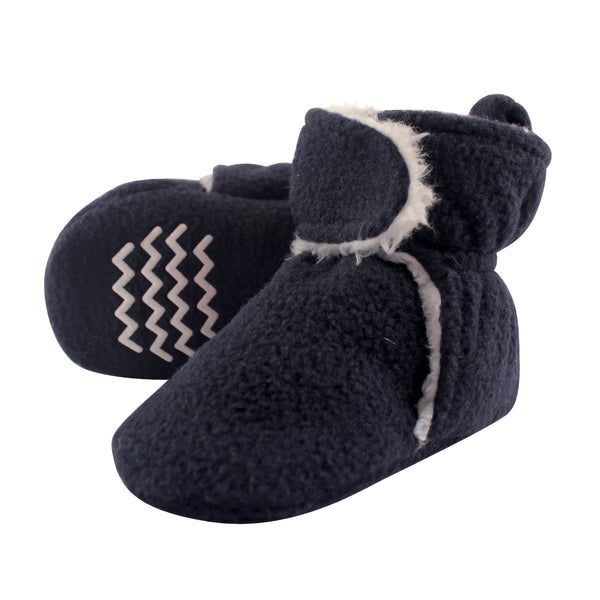Hudson Baby Cozy Fleece and Sherpa Booties, Navy