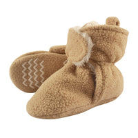 Hudson Baby Cozy Fleece and Sherpa Booties, Tan