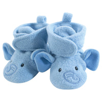 Hudson Baby Cozy Fleece Booties, Blue Elephant