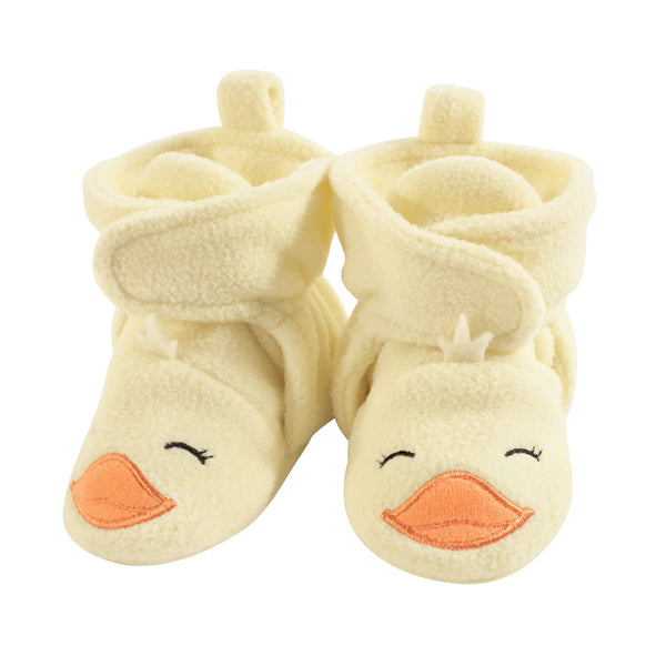 Hudson Baby Cozy Fleece Booties, Yellow Duck