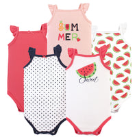 Hudson Baby Cotton Sleeveless Bodysuits, Watermelon