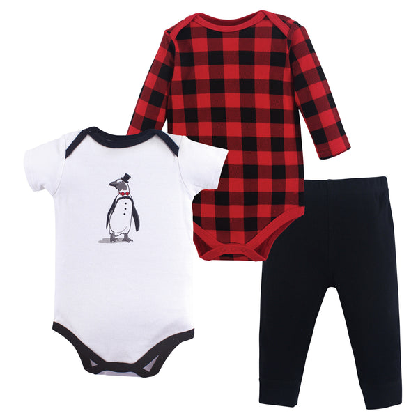 Hudson Baby Cotton Bodysuit and Pant Set, Penguin