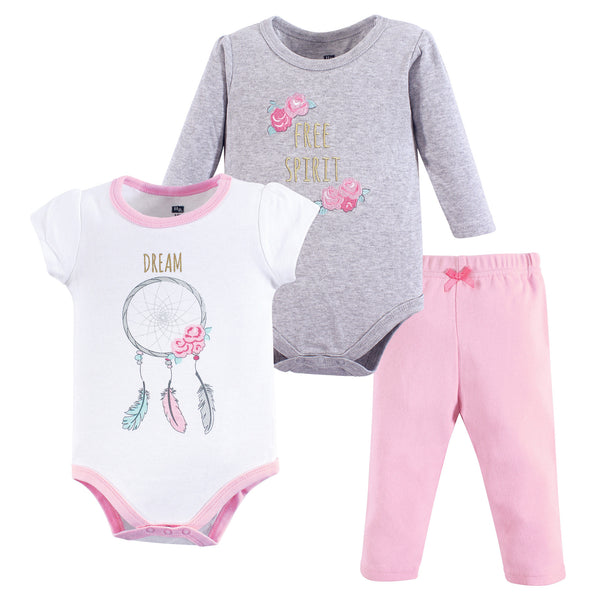 Hudson Baby Cotton Bodysuit and Pant Set, Dream Catcher