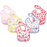 Hudson Baby Waterproof Polyester Bibs, Strawberries
