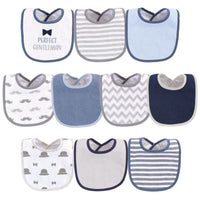 Hudson Baby Cotton and Polyester Bibs, Perfect Gentleman