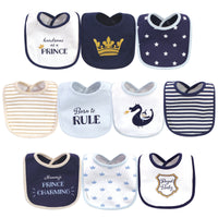 Hudson Baby Cotton Bibs, Handsome As A Prince